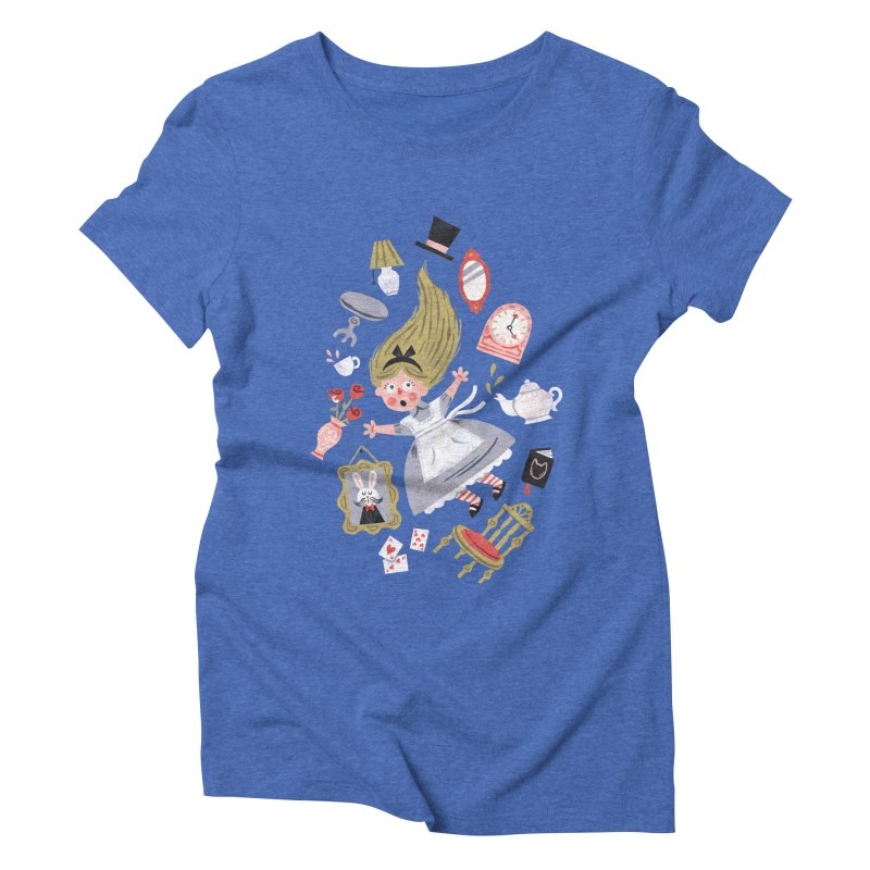 Alice in Wonderland Women's Triblend T-Shirt by WanderingBert Shirts and stuff