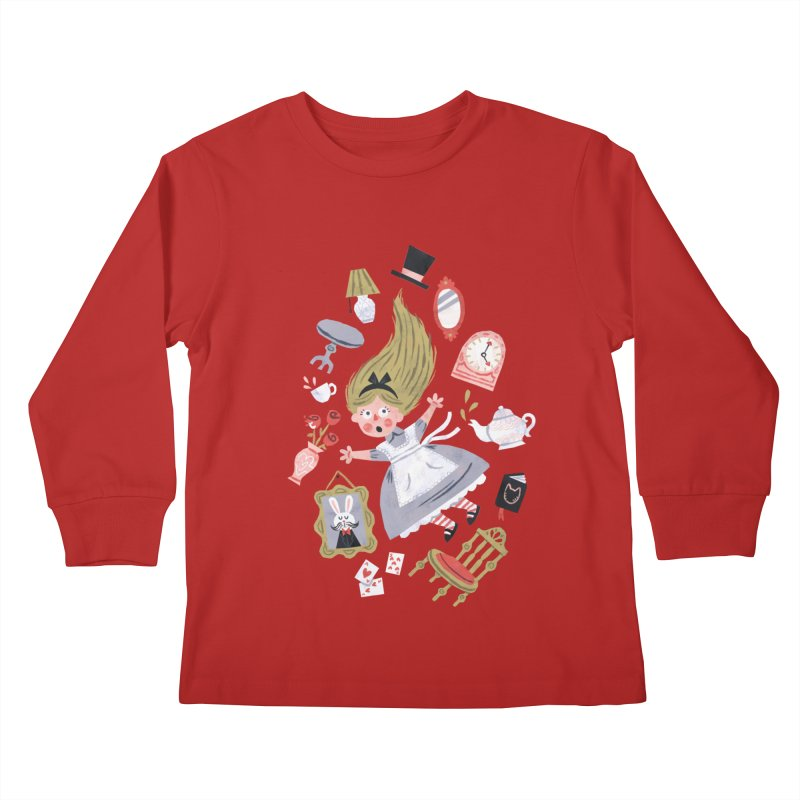 Alice in Wonderland Kids Longsleeve T-Shirt by WanderingBert Shirts and stuff