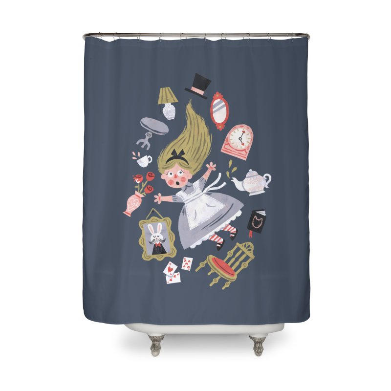 Alice in Wonderland Home Shower Curtain by WanderingBert Shirts and stuff