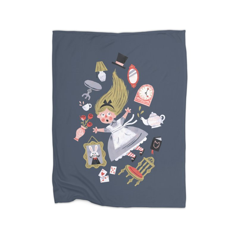 Alice in Wonderland Home Blanket by WanderingBert Shirts and stuff