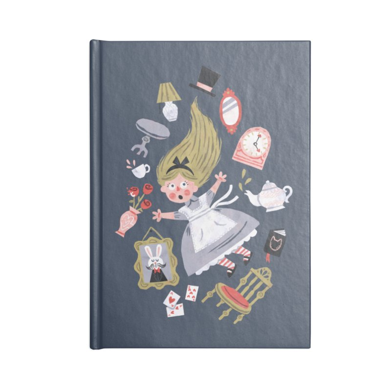Alice in Wonderland Accessories Notebook by WanderingBert Shirts and stuff