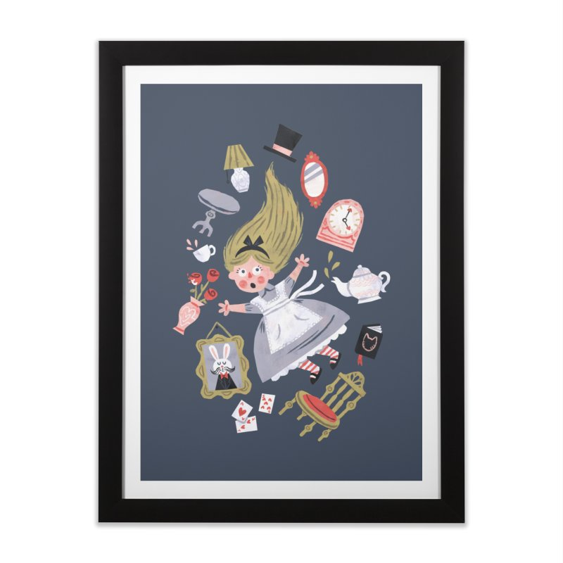 Alice in Wonderland Home Framed Fine Art Print by WanderingBert Shirts and stuff