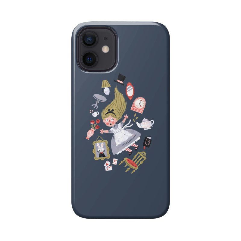Alice in Wonderland Accessories Phone Case by WanderingBert Shirts and stuff