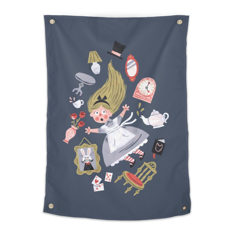 Alice in Wonderland Home Tapestry by WanderingBert Shirts and stuff
