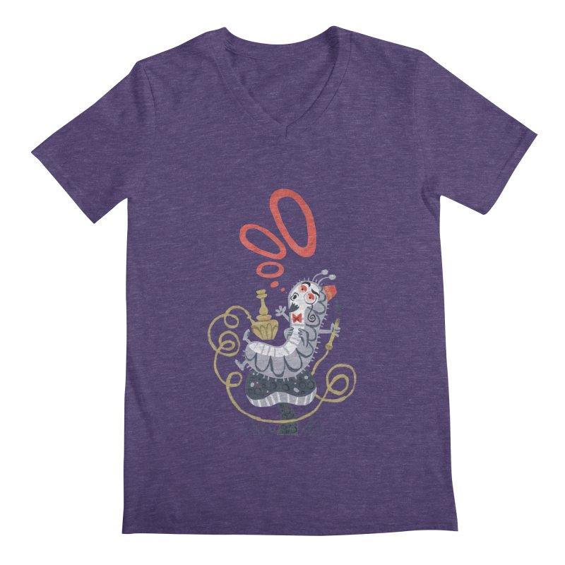 Caterpillar - Alice in Wonderland Men's V-Neck by WanderingBert Shirts and stuff
