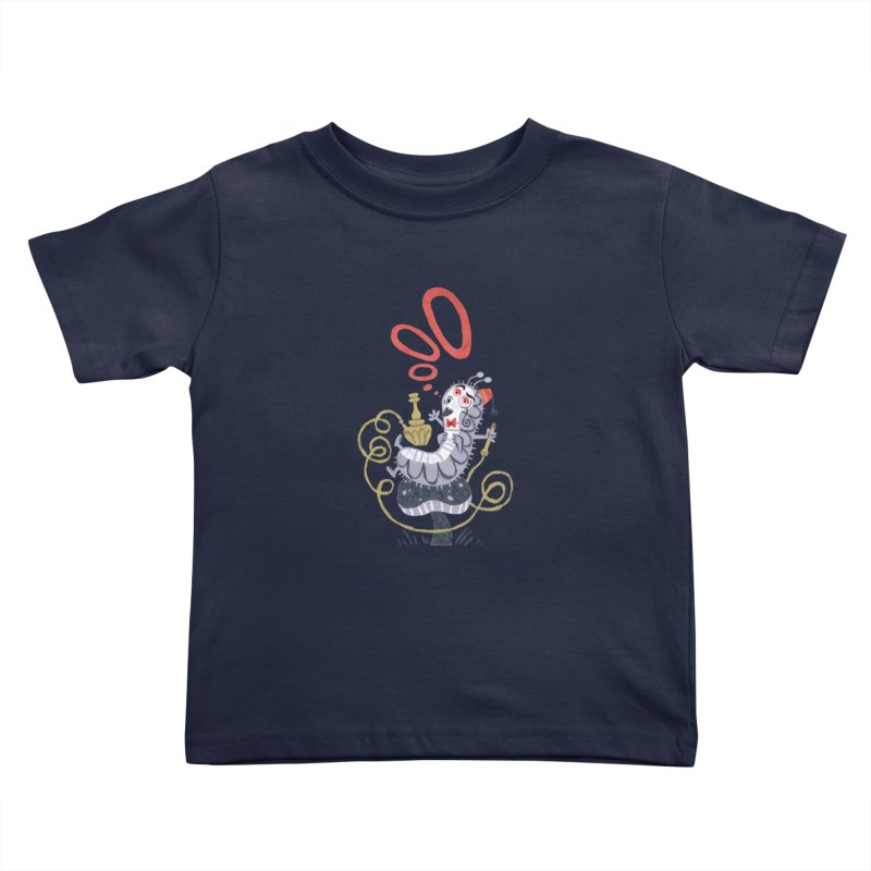 Caterpillar - Alice in Wonderland Kids Toddler T-Shirt by WanderingBert Shirts and stuff