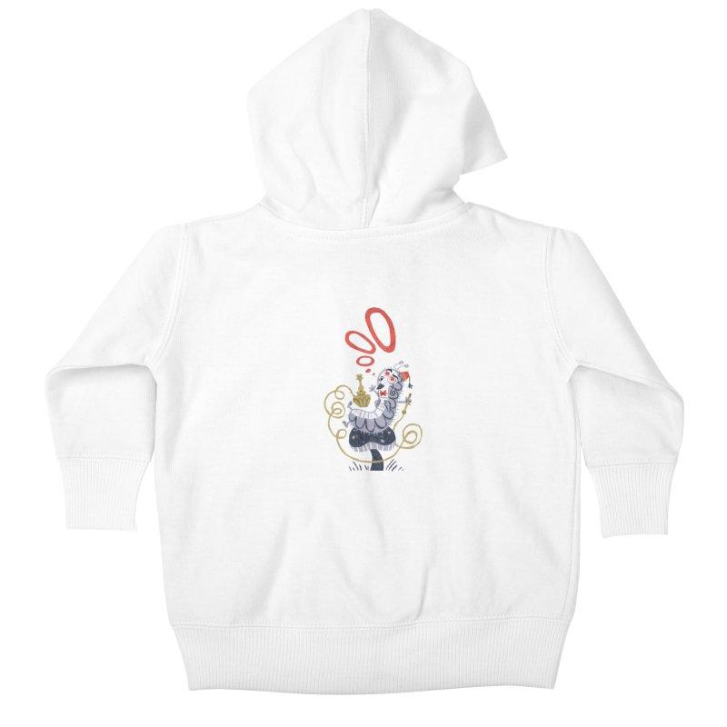 Caterpillar - Alice in Wonderland Kids Baby Zip-Up Hoody by WanderingBert Shirts and stuff