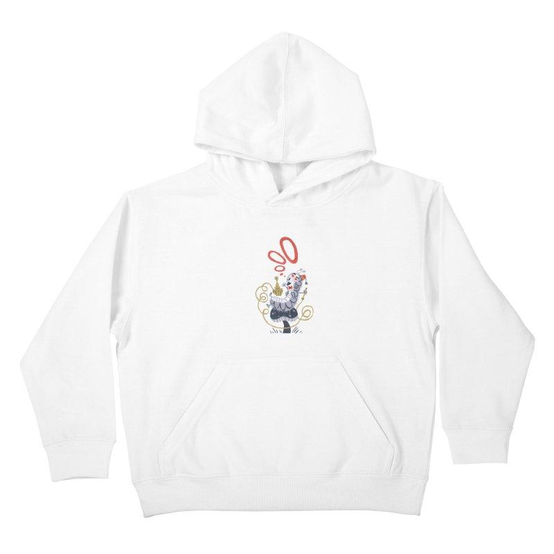 Caterpillar - Alice in Wonderland Kids Pullover Hoody by WanderingBert Shirts and stuff