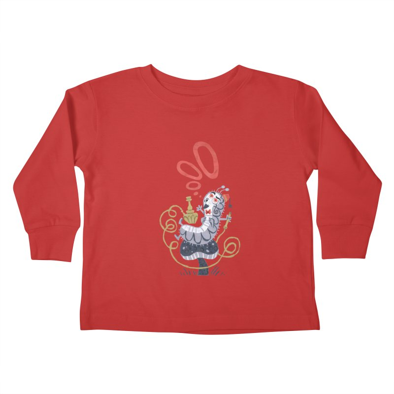 Caterpillar - Alice in Wonderland Kids Toddler Longsleeve T-Shirt by WanderingBert Shirts and stuff