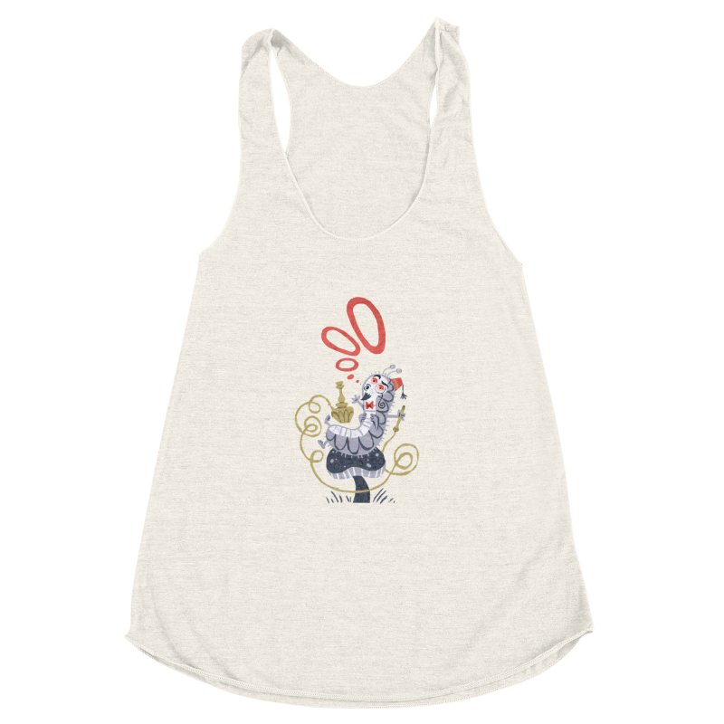 Caterpillar - Alice in Wonderland Women's Racerback Triblend Tank by WanderingBert Shirts and stuff