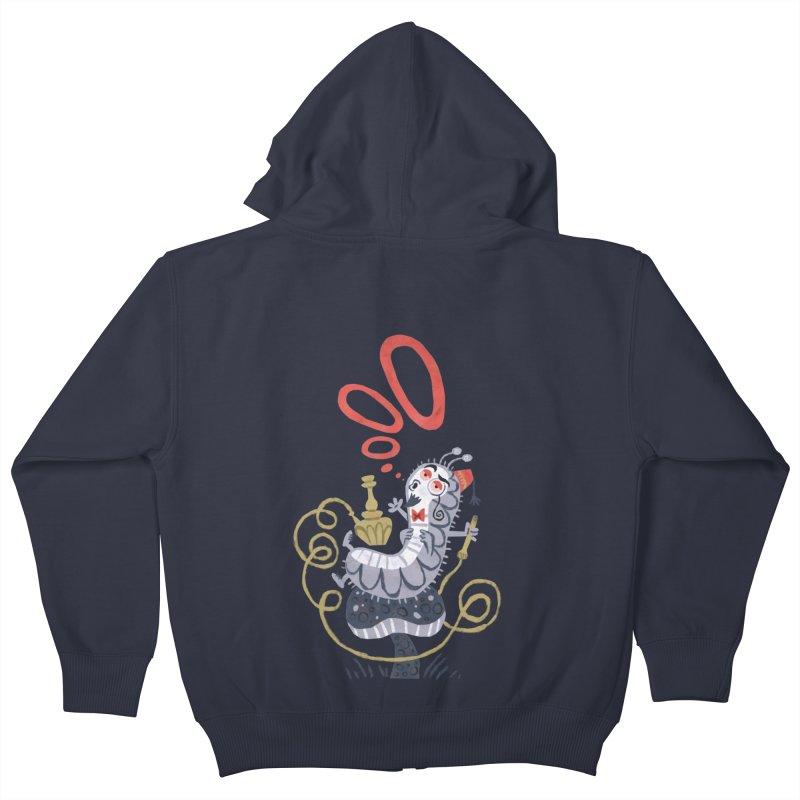 Caterpillar - Alice in Wonderland Kids Zip-Up Hoody by WanderingBert Shirts and stuff