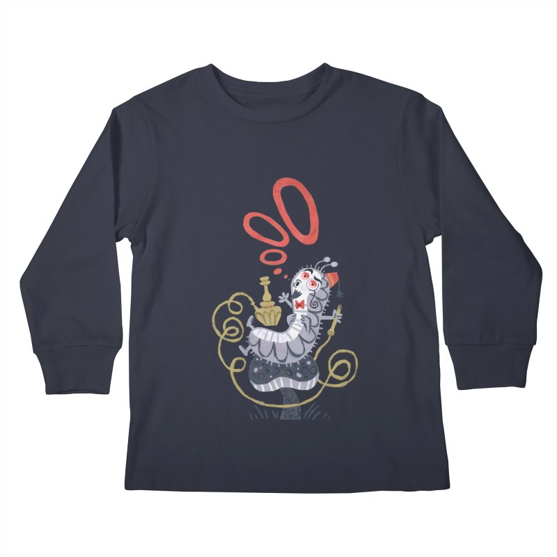 Caterpillar - Alice in Wonderland Kids Longsleeve T-Shirt by WanderingBert Shirts and stuff