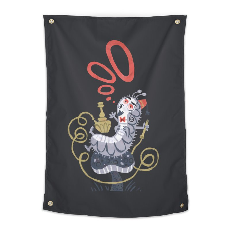Caterpillar - Alice in Wonderland Home Tapestry by WanderingBert Shirts and stuff