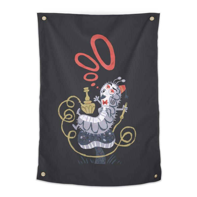 Caterpillar - Alice in Wonderland Home Tapestry by WanderingBert Shirts and stuff
