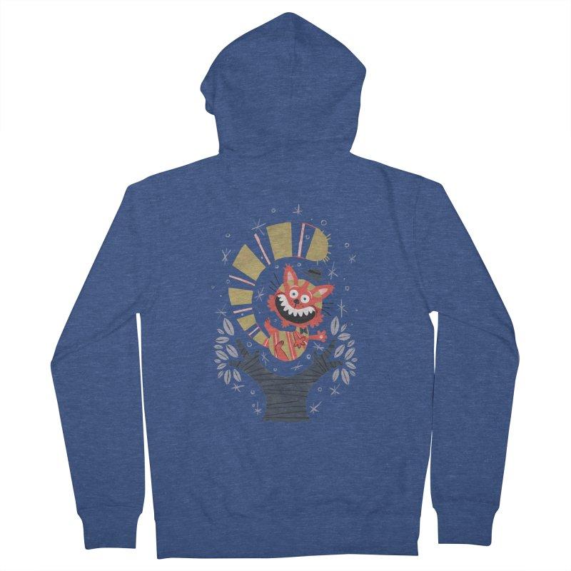 Cheshire Cat - Alice in Wonderland Men's Zip-Up Hoody by WanderingBert Shirts and stuff