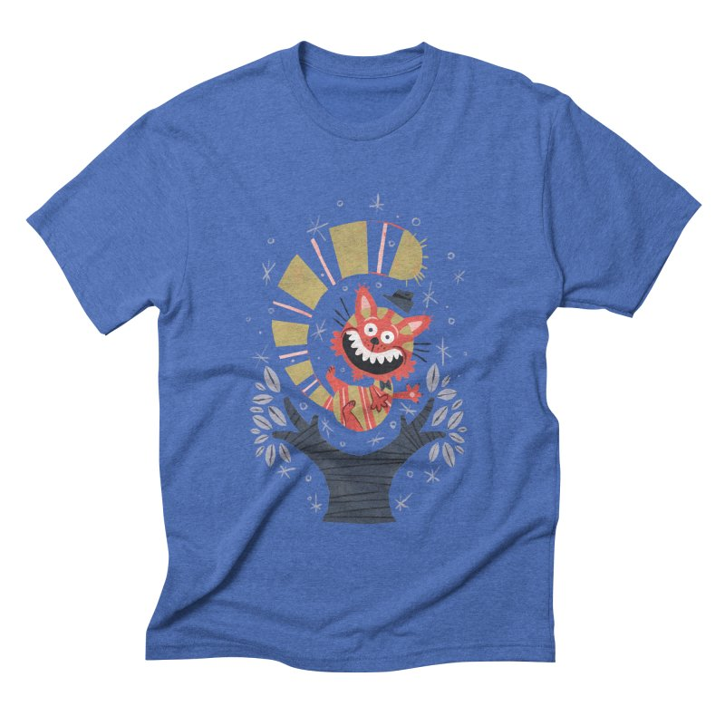 Cheshire Cat - Alice in Wonderland Men's Triblend T-shirt by WanderingBert Shirts and stuff
