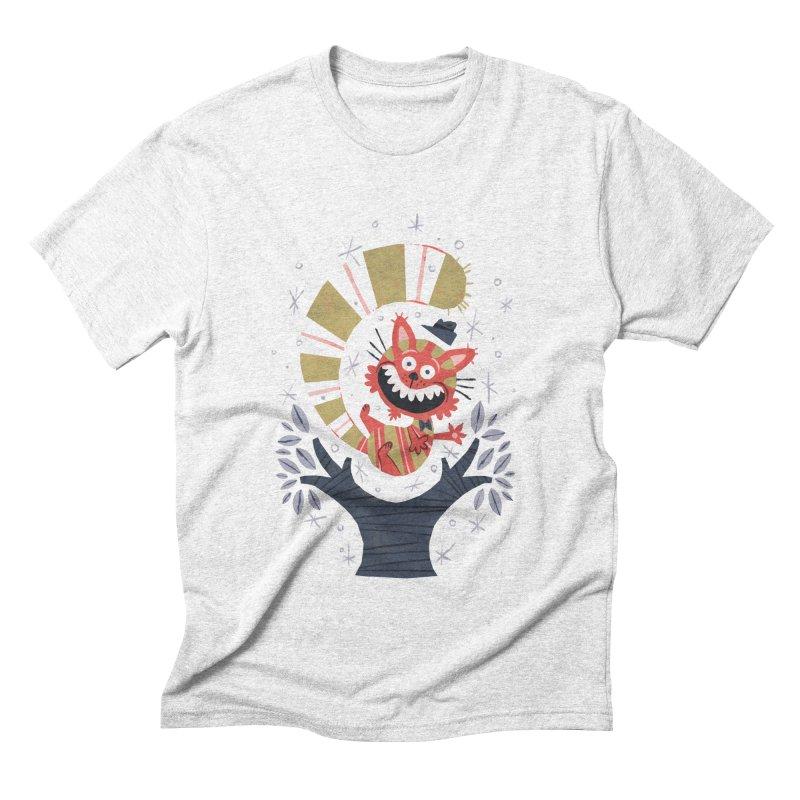 Cheshire Cat - Alice in Wonderland Men's Triblend T-shirt by WanderingBert Shirts and stuff
