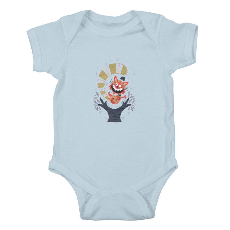 Cheshire Cat - Alice in Wonderland Kids Baby Bodysuit by WanderingBert Shirts and stuff