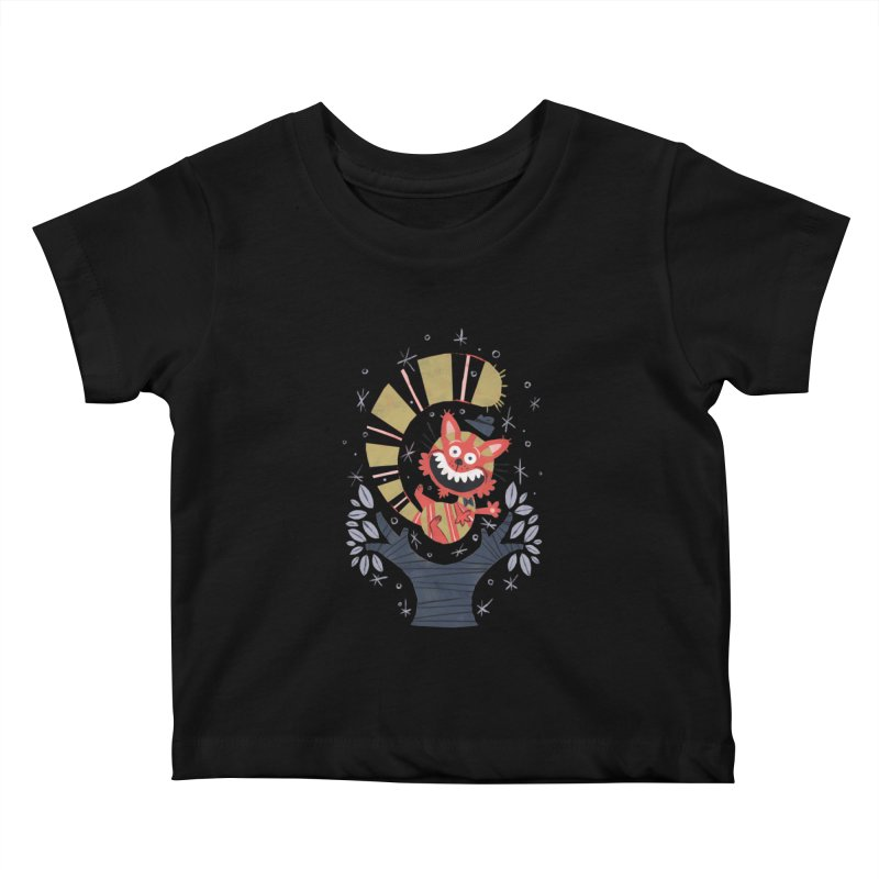 Cheshire Cat - Alice in Wonderland Kids Baby T-Shirt by WanderingBert Shirts and stuff
