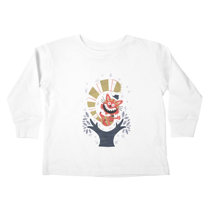 Cheshire Cat - Alice in Wonderland Kids Toddler Longsleeve T-Shirt by WanderingBert Shirts and stuff