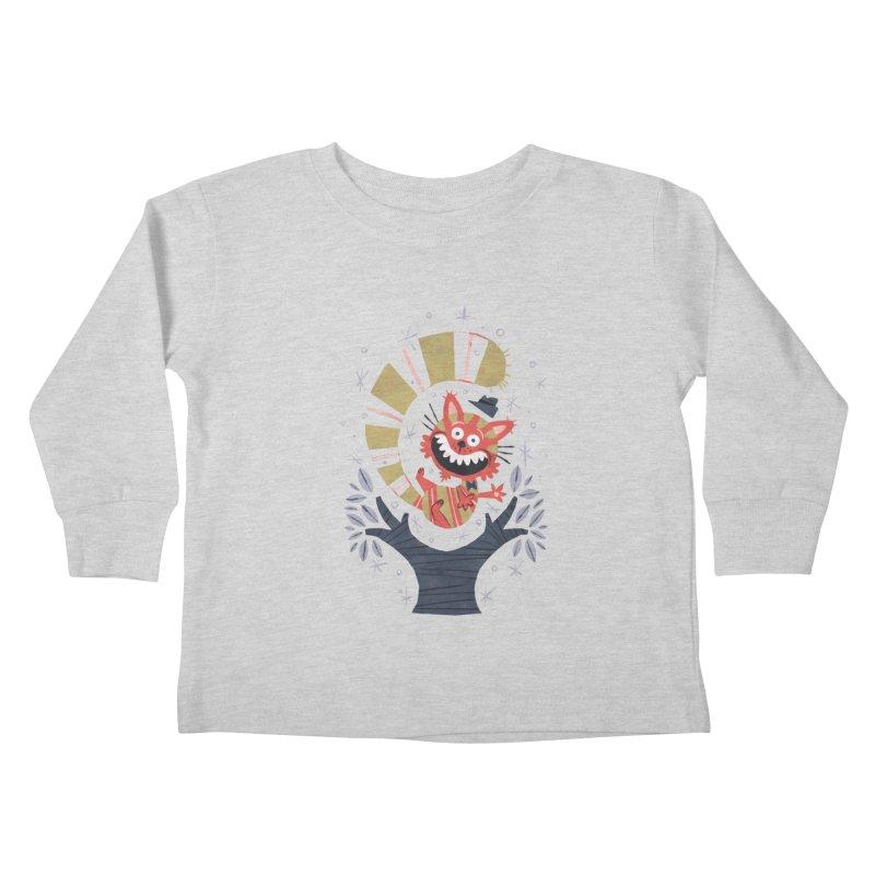 Cheshire Cat - Alice in Wonderland Kids Toddler Longsleeve T-Shirt by WanderingBert Shirts and stuff