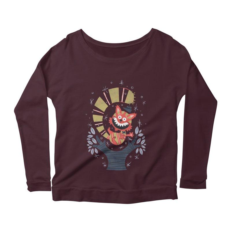 Cheshire Cat - Alice in Wonderland Women's Longsleeve Scoopneck  by WanderingBert Shirts and stuff