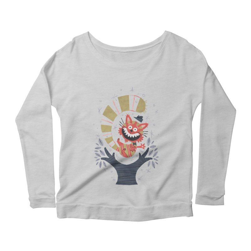 Cheshire Cat - Alice in Wonderland Women's Longsleeve Scoopneck  by WanderingBert Shirts and stuff