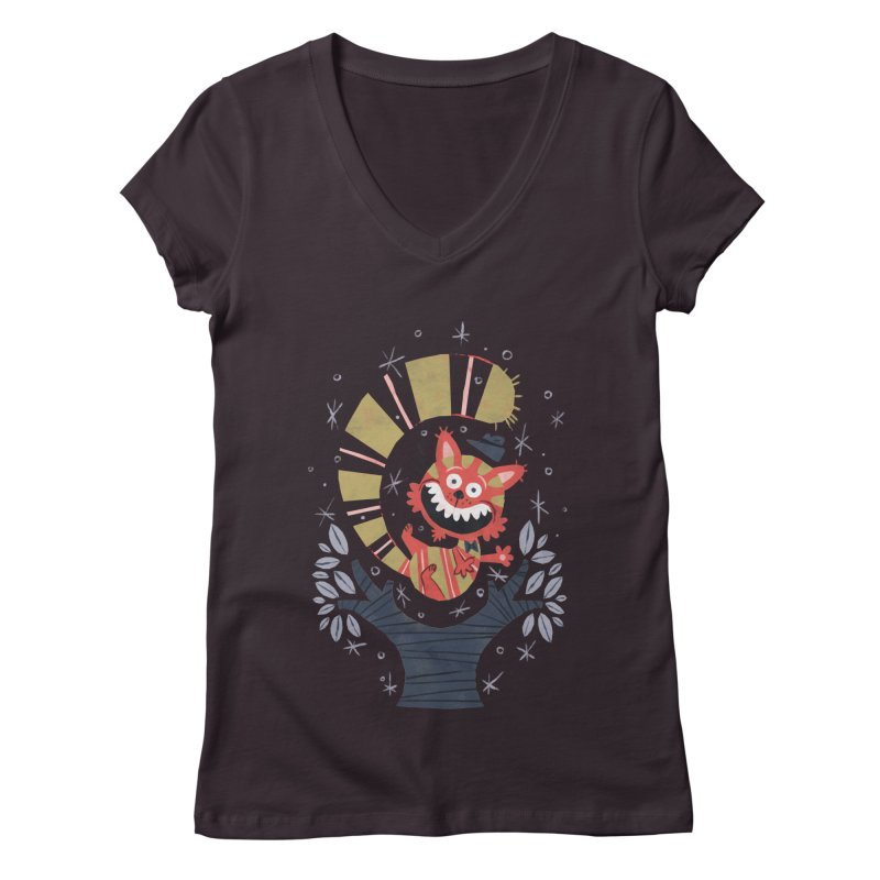 Cheshire Cat - Alice in Wonderland Women's V-Neck by WanderingBert Shirts and stuff
