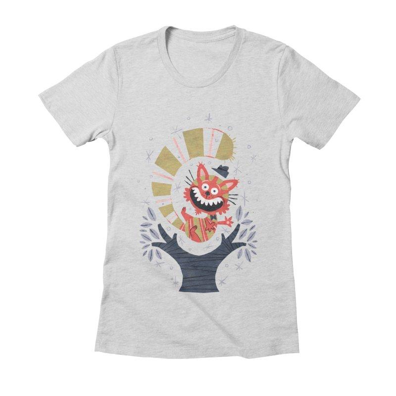 Cheshire Cat - Alice in Wonderland Women's Fitted T-Shirt by WanderingBert Shirts and stuff