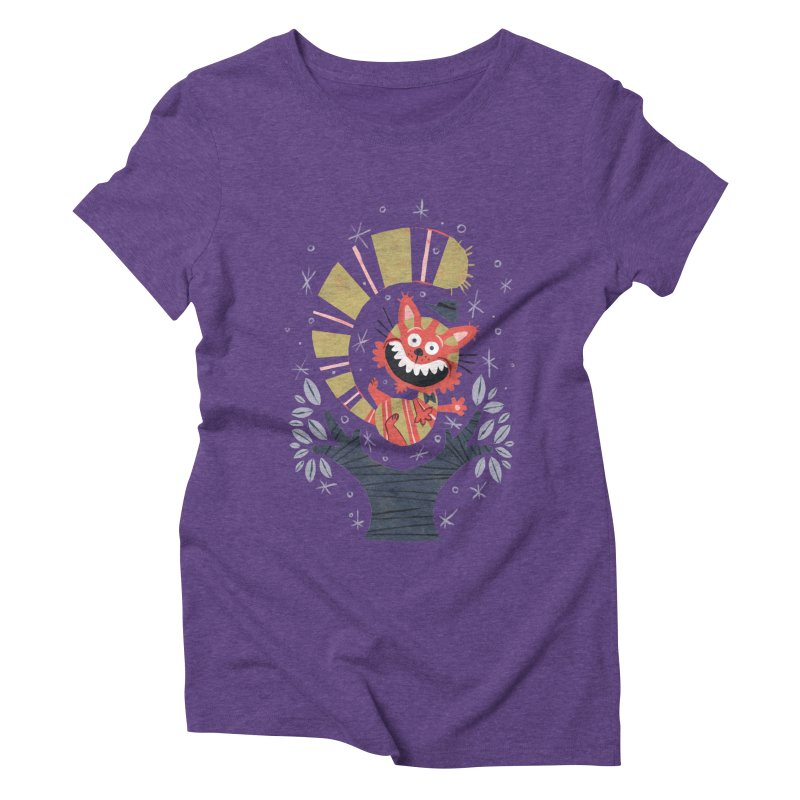 Cheshire Cat - Alice in Wonderland Women's Triblend T-Shirt by WanderingBert Shirts and stuff