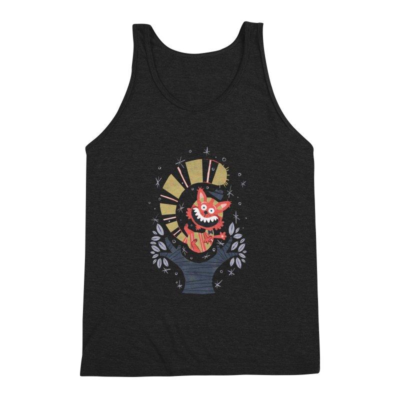 Cheshire Cat - Alice in Wonderland Men's Triblend Tank by WanderingBert Shirts and stuff