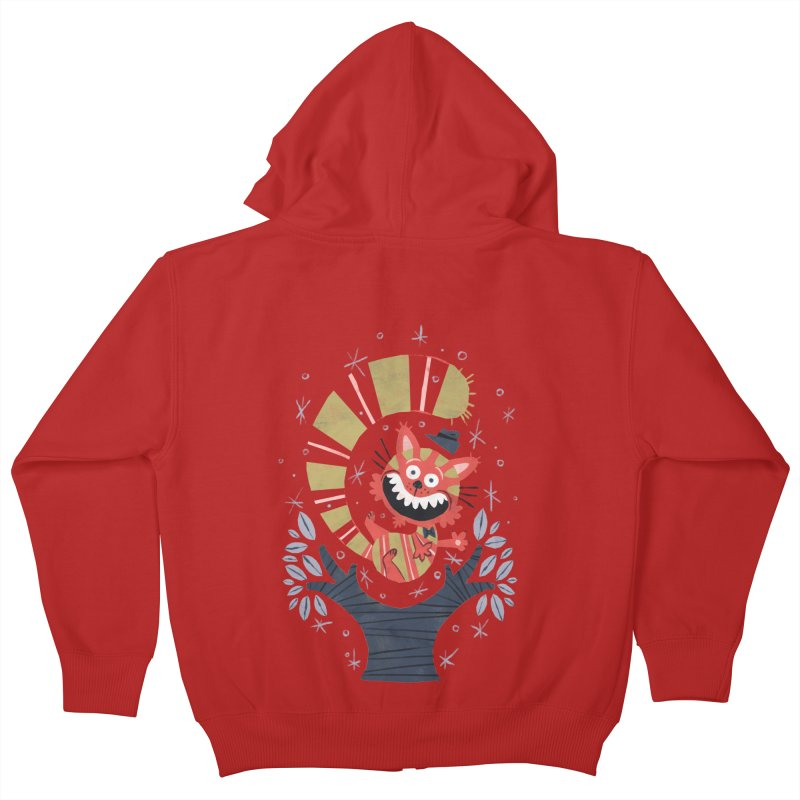 Cheshire Cat - Alice in Wonderland Kids Zip-Up Hoody by WanderingBert Shirts and stuff