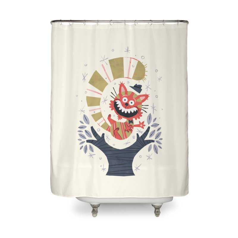 Cheshire Cat - Alice in Wonderland Home Shower Curtain by WanderingBert Shirts and stuff
