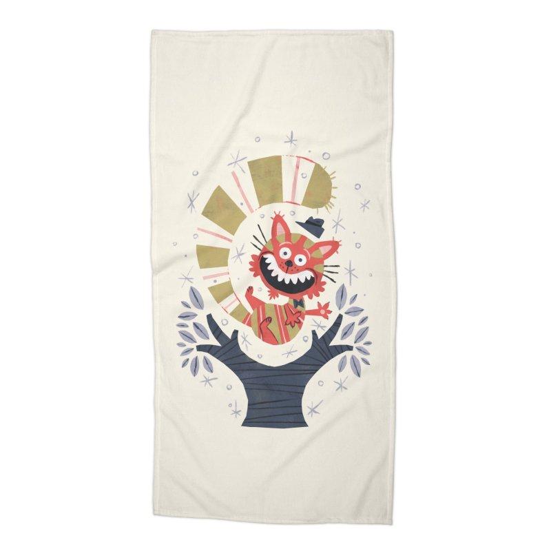 Cheshire Cat - Alice in Wonderland Accessories Beach Towel by WanderingBert Shirts and stuff