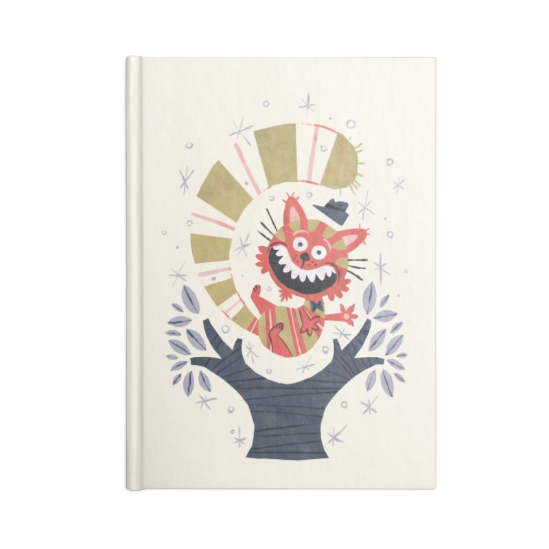 Cheshire Cat - Alice in Wonderland Accessories Notebook by WanderingBert Shirts and stuff