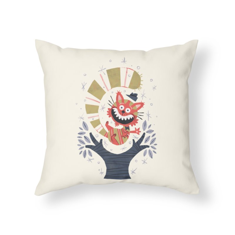 Cheshire Cat - Alice in Wonderland Home Throw Pillow by WanderingBert Shirts and stuff