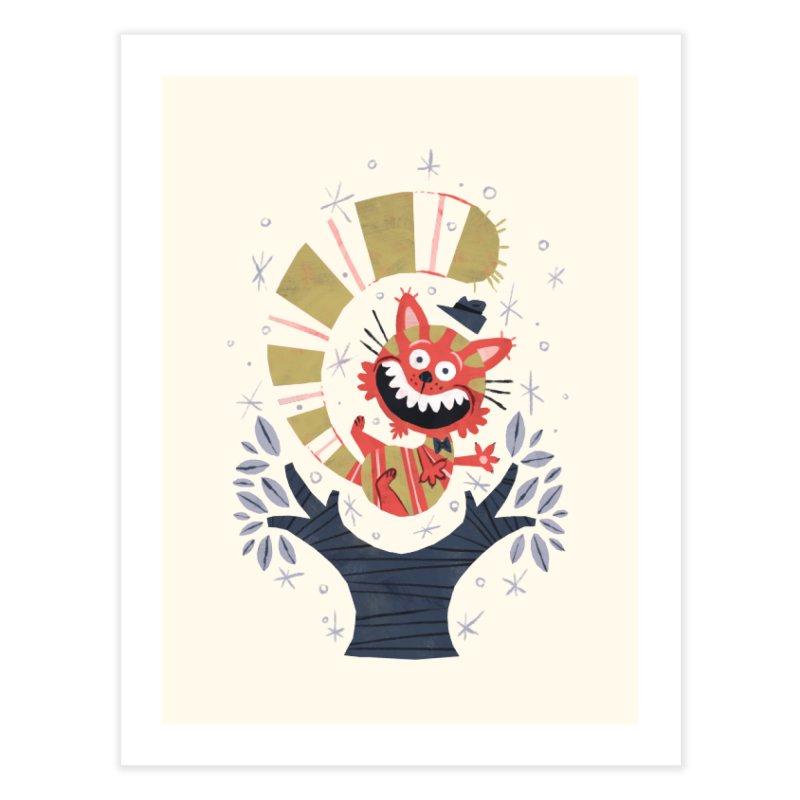Cheshire Cat - Alice in Wonderland Home Fine Art Print by WanderingBert Shirts and stuff