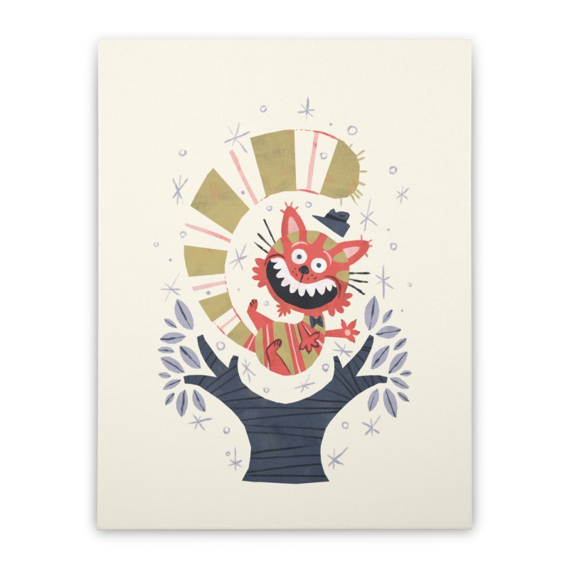 Cheshire Cat - Alice in Wonderland Home Stretched Canvas by WanderingBert Shirts and stuff