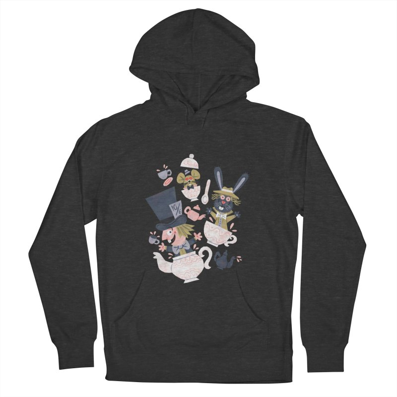 Mad Hatter's Tea Party - Alice in Wonderland Women's Pullover Hoody by WanderingBert Shirts and stuff