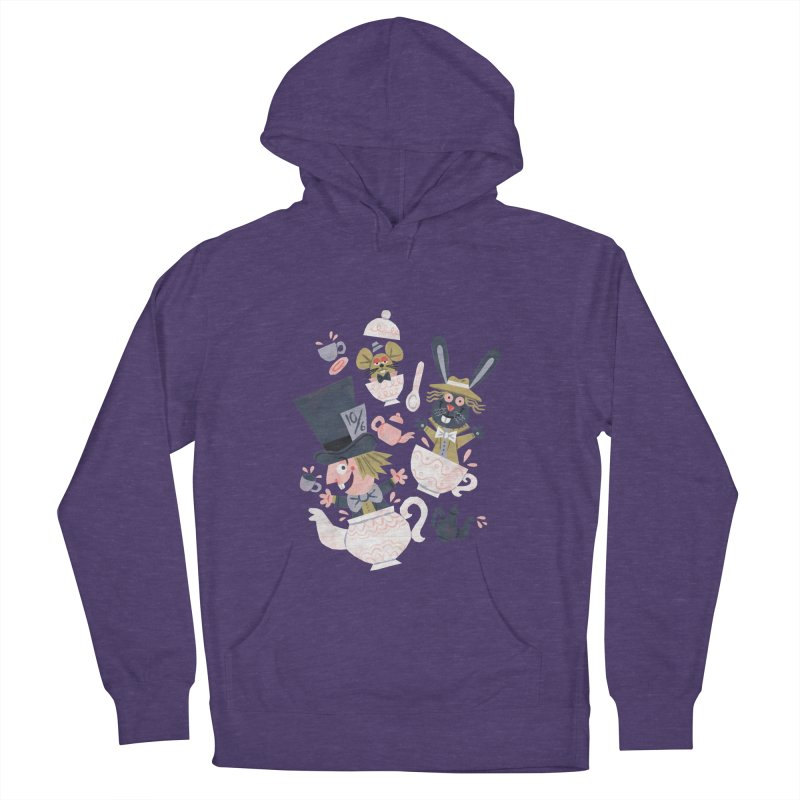 Mad Hatter's Tea Party - Alice in Wonderland Men's Pullover Hoody by WanderingBert Shirts and stuff