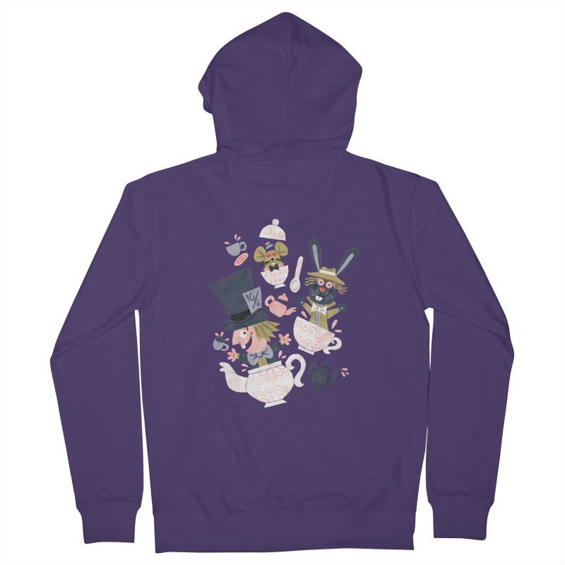Mad Hatter's Tea Party - Alice in Wonderland Women's Zip-Up Hoody by WanderingBert Shirts and stuff