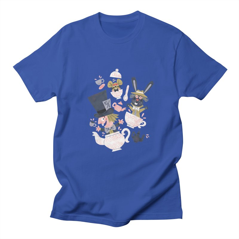 Mad Hatter's Tea Party - Alice in Wonderland Women's Unisex T-Shirt by WanderingBert Shirts and stuff