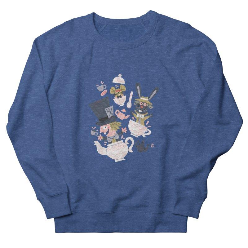 Mad Hatter's Tea Party - Alice in Wonderland Women's Sweatshirt by WanderingBert Shirts and stuff