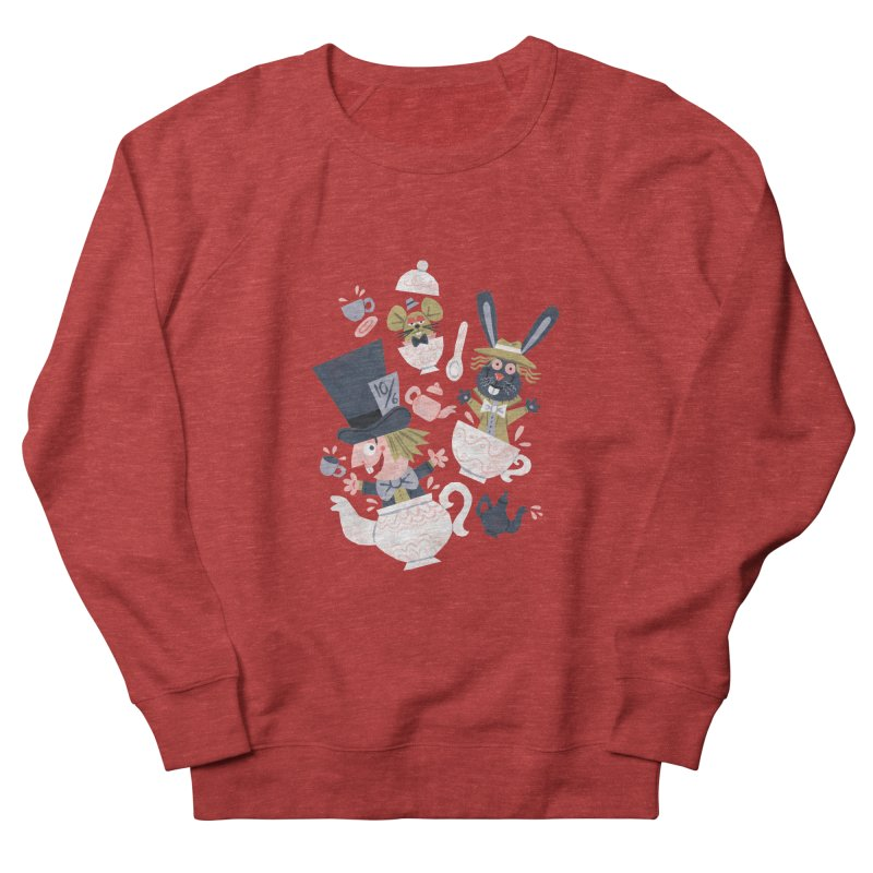 Mad Hatter's Tea Party - Alice in Wonderland Women's Sweatshirt by WanderingBert Shirts and stuff