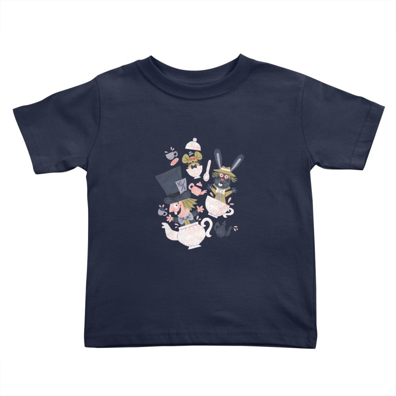 Mad Hatter's Tea Party - Alice in Wonderland Kids Toddler T-Shirt by WanderingBert Shirts and stuff