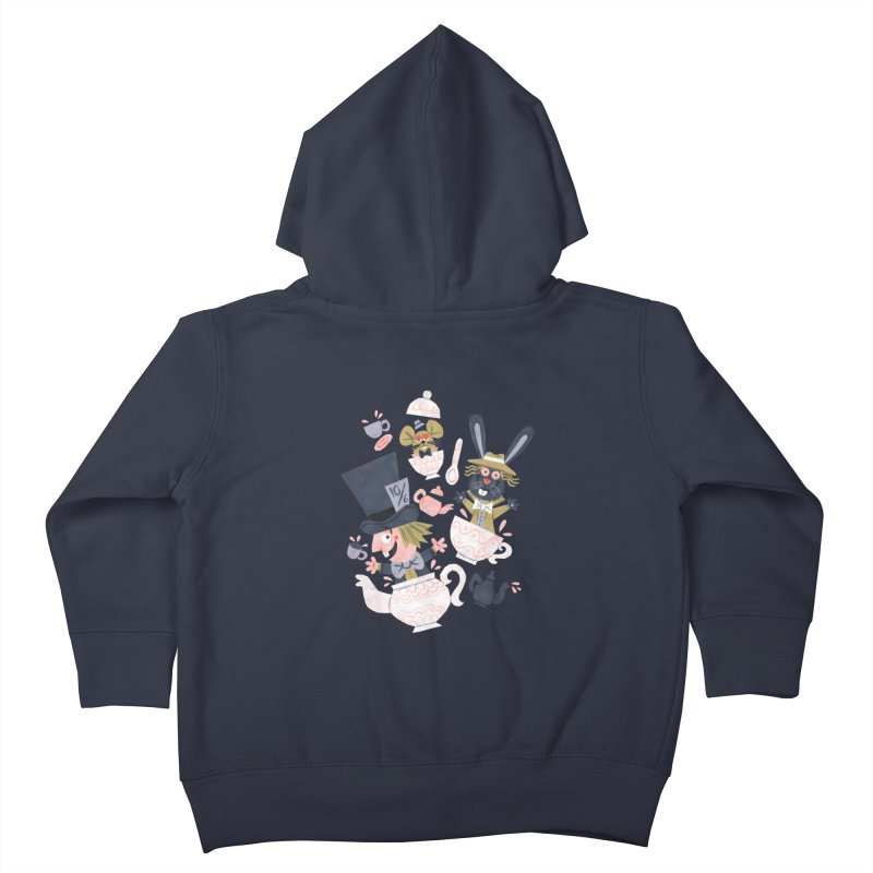Mad Hatter's Tea Party - Alice in Wonderland Kids Toddler Zip-Up Hoody by WanderingBert Shirts and stuff