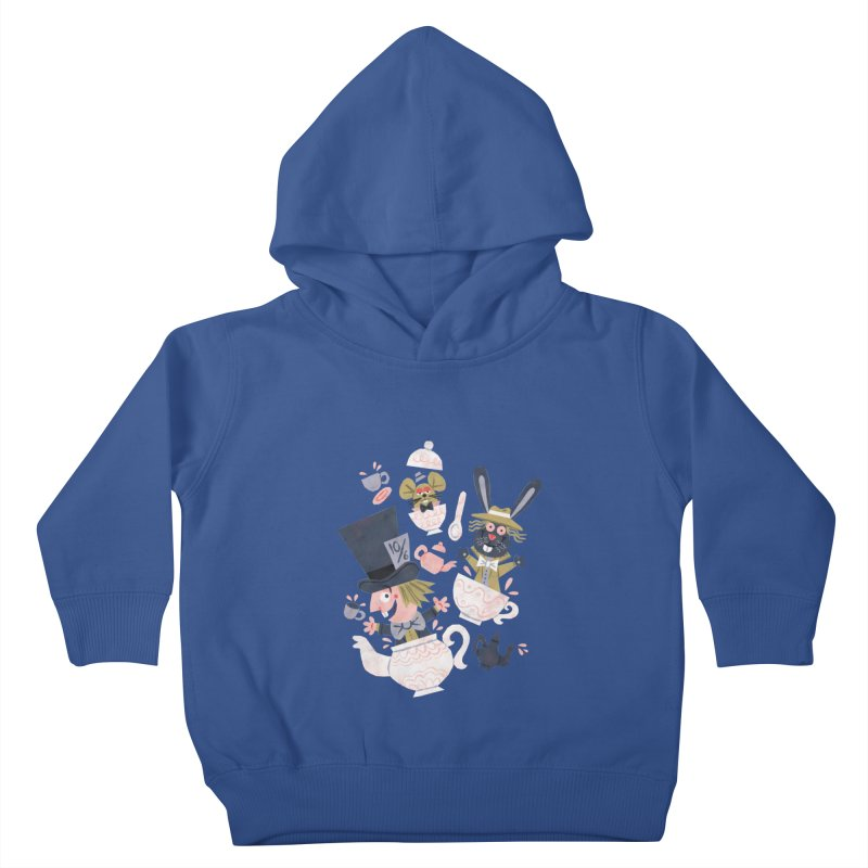 Mad Hatter's Tea Party - Alice in Wonderland Kids Toddler Pullover Hoody by WanderingBert Shirts and stuff