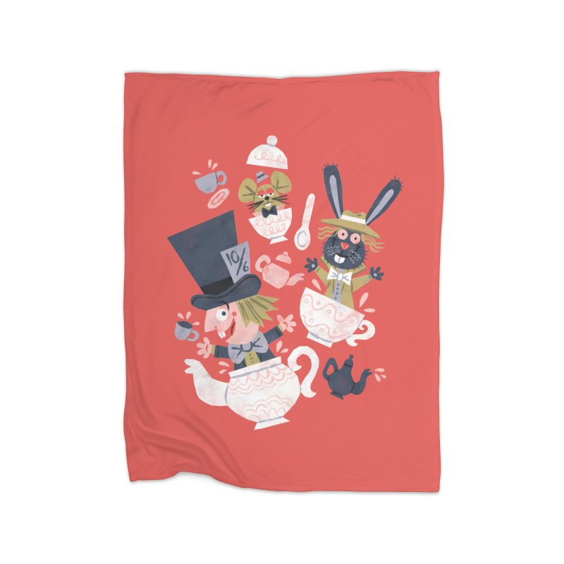 Mad Hatter's Tea Party - Alice in Wonderland Home Blanket by WanderingBert Shirts and stuff