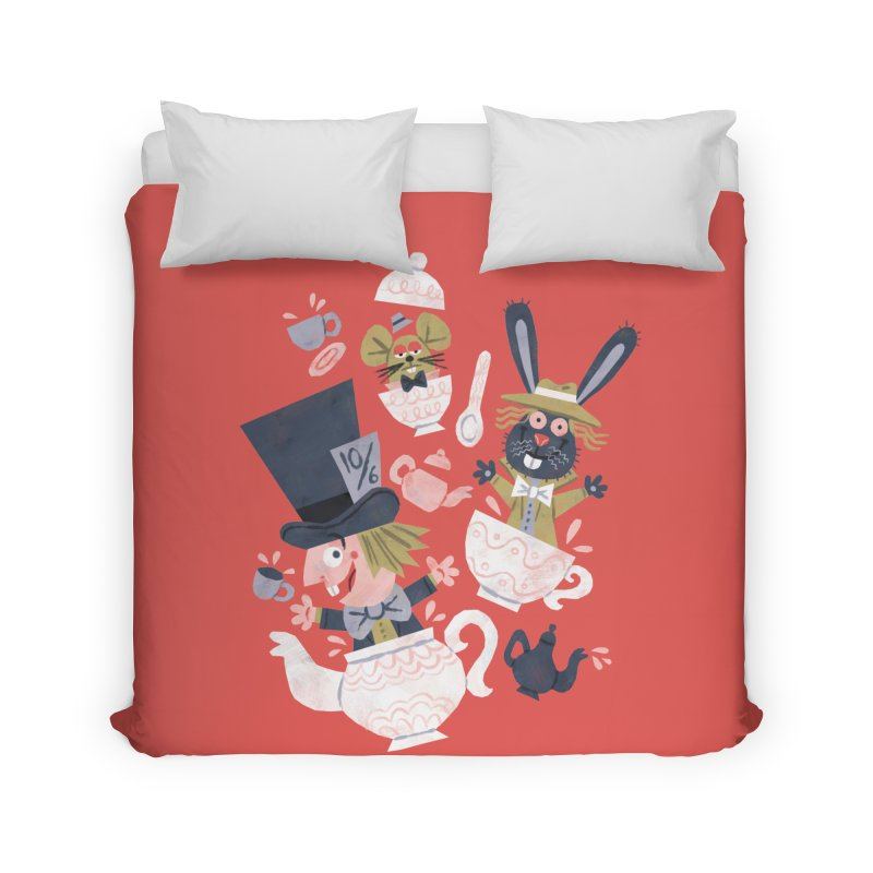 Mad Hatter's Tea Party - Alice in Wonderland Home Duvet by WanderingBert Shirts and stuff