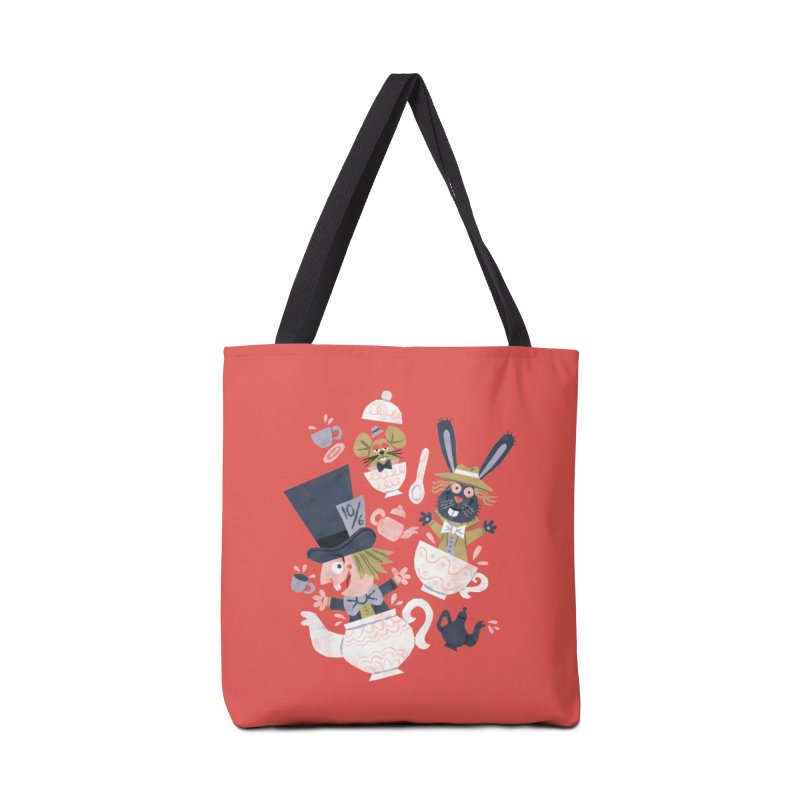 Mad Hatter's Tea Party - Alice in Wonderland Accessories Bag by WanderingBert Shirts and stuff